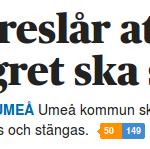 Umeå Kommun vill jaga bort uteliggare och hänvisa dom till camping och vandrarhem